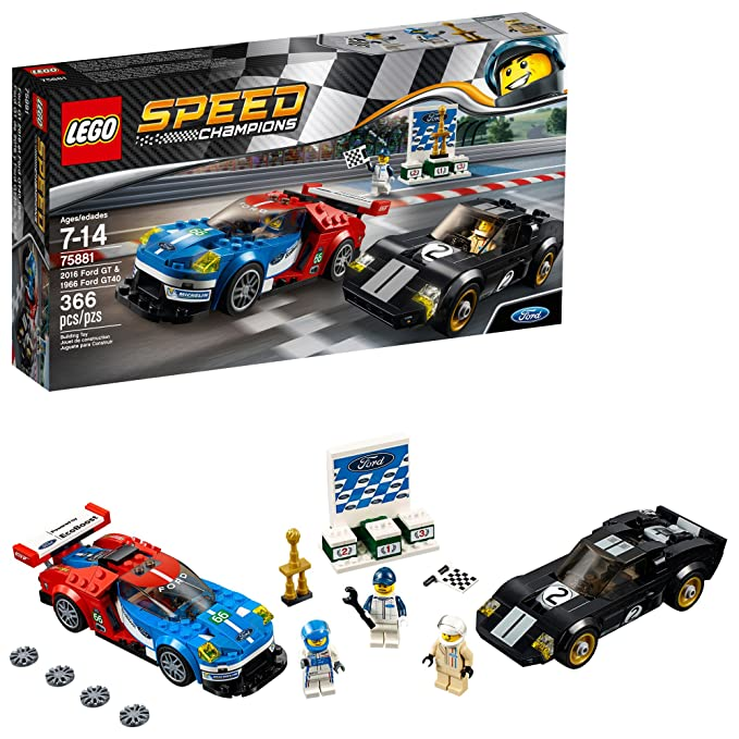 Amazon Com Lego Speed Champions  Ford Gt  Building Kit  Piece Multi Toys Games