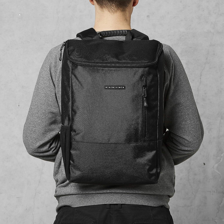 Uni Rucksack für Herren in schwarz grauer Pullover Rücken Mann