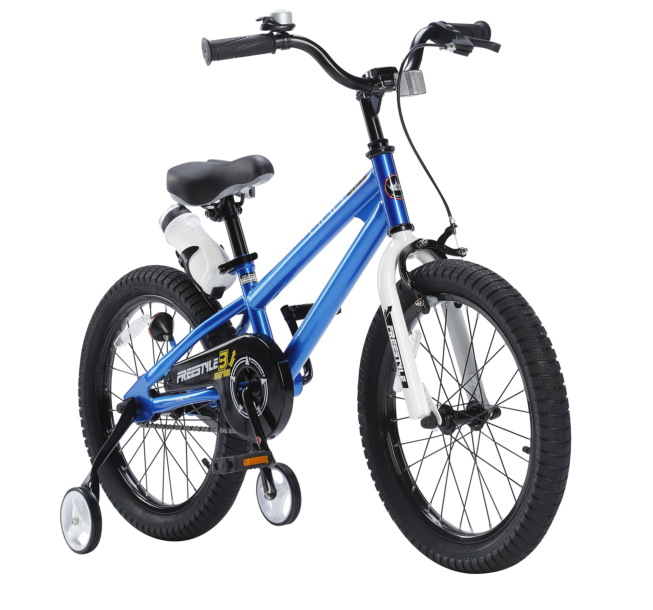 RoyalBaby BMX Freestyle Kids Bike, Boy's Bikes and Girl's Bikes with training wheels, 12 inch, 14 inch, 16 inch, 18 inch, Gifts for children by Royalbaby (Image #3)
