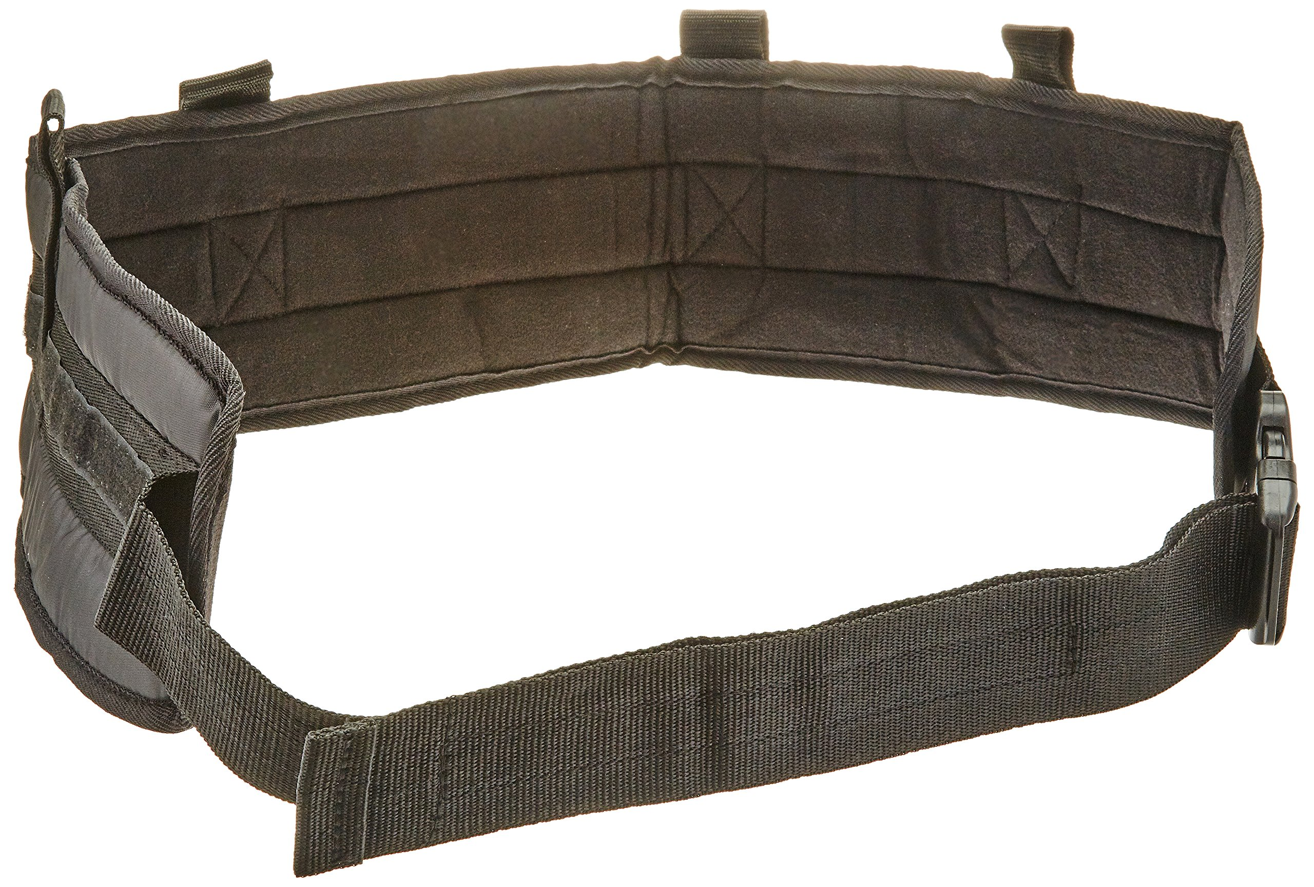 Sammons Preston Padded Gait Belt with Handles, 5.5'' Wide Transfer Belt with 4 Loops and Quick Release Buckle, Handled Limited Mobility Aid Belt for Patient Care, Black, Large Belt Fits 40''-64'' Waist
