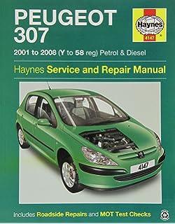 Peugeot 307 petrol and diesel owners workshop manual 2001 to 2008 haynes 4147 service and repair workshop manual fandeluxe Choice Image