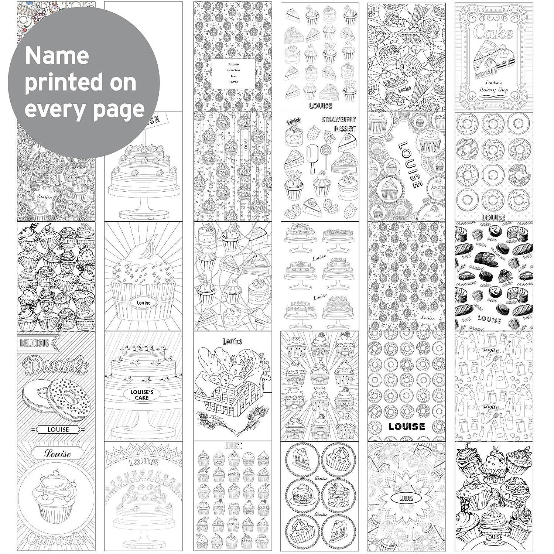 Livre de coloriage de cuisine personnalisable pour adultes