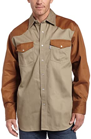 6d66ad2a152 Amazon.com  Carhartt Men s Big   Tall Ironwood Twill Work Shirt Snap Front  Relaxed Fit S209  Clothing