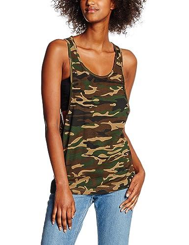 Urban Classics Ladies Camo Loose, Tank Top para Mujer