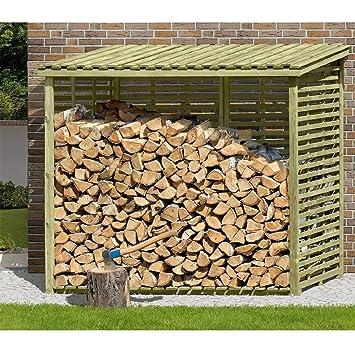 Kaminholzunterstand mit rückwand  Kaminholzregal XXL Brennholzregal mit Rückwand für 3,8 m³ Holz von ...