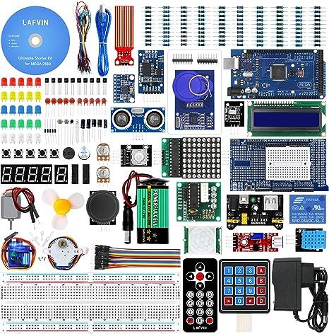 lafvin Mega 2560 Proyecto Starter Kit Compatible con Arduino UNO R3 MEGA328 Nano con tutorial: Amazon.es: Informática