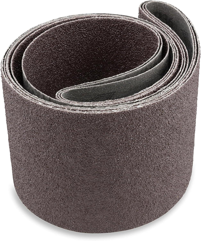 6 Pack 4 X 36 Inch 320 Grit Aluminum Oxide Multipurpose Sanding Belts