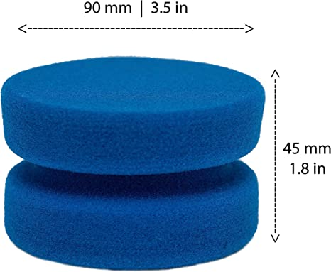 4 Pack Paint Sponges Applicator Complete with Mesh Hang Dry Storage Bag Blue Circular 3 Inch
