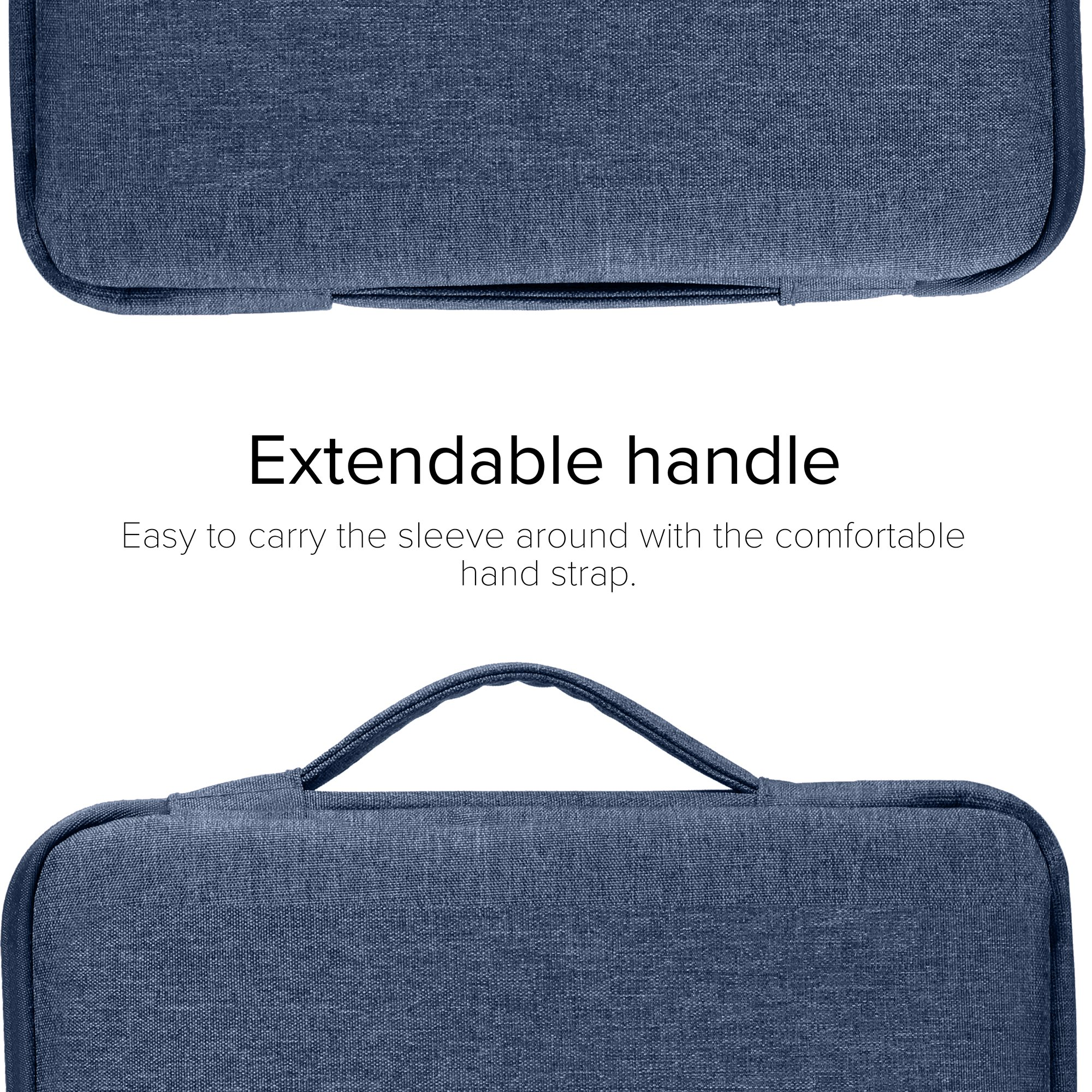 GMYLE 2 in 1 Bundle Soft-Touch Frosted Hard Case for Macbook Air 13 inch (Model: A1369/A1466) and 13-13.3 inch Water Repellent Laptop Sleeve with Handle and Pocket - Navy Blue by GMYLE (Image #4)