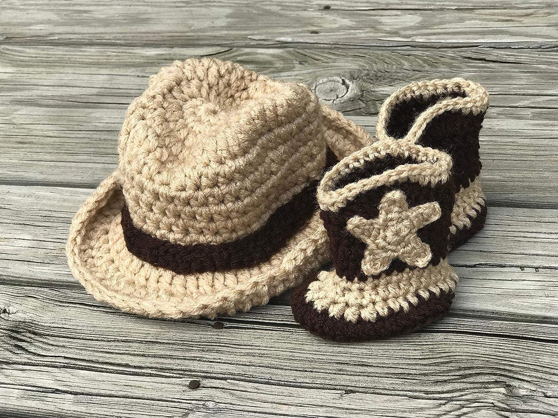 8533ef2e4ca04 Amazon.com  Baby cowboy hat and baby cowboy boots  Handmade