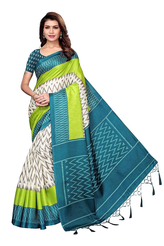 Shubhisha Fashion art silk with blouse piece Saree up to 81% off @ Amazon