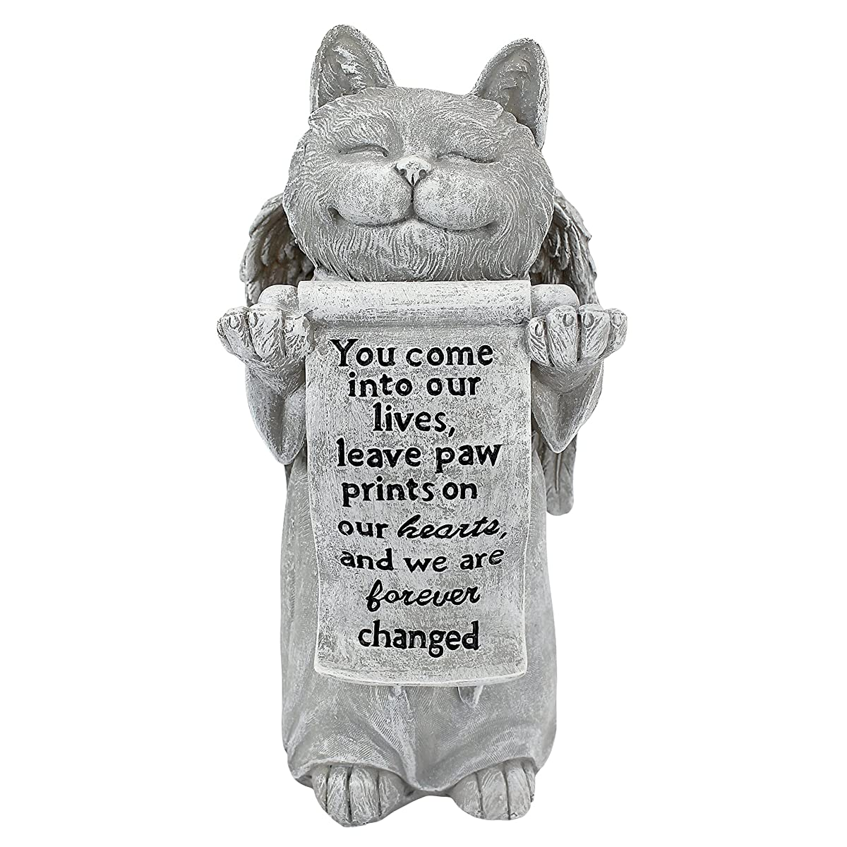 Design Toscano Paw Prints on Our Hearts Memorial Cat Statue