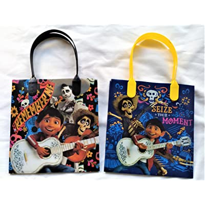 Disney/Pixar Coco Party Favor Reusable Goodie bags/ Gift Bags - Premium Quality - 12pc: Toys & Games