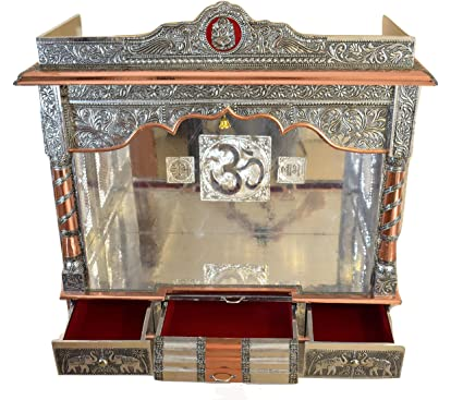 Amazon Com Desi Bazar Pooja Mandir For Home Indian Hindu Temple