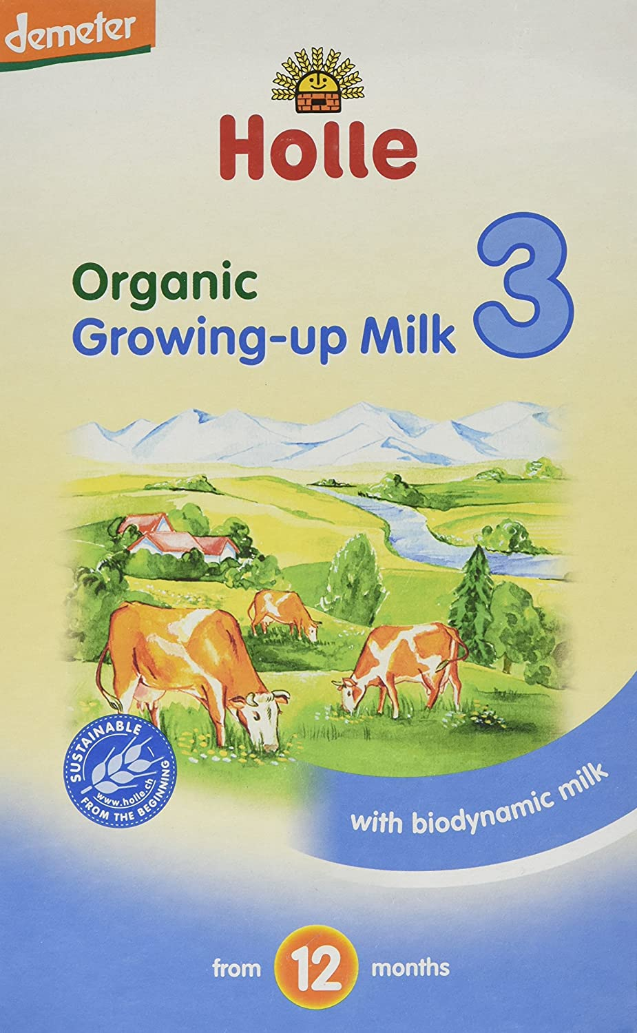 Holle Organic Growing Up Milk 3 600g (Pack of 3)