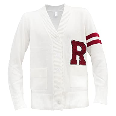 225e2d0729a3 Hip Hop 50 s Shop - Mens 1950s Letterman Cardigan Sweater at Amazon ...