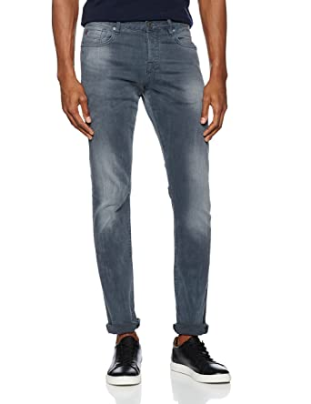 bade12007 Scotch & Soda Men's NOS Ralston-Concrete Bleach Straight Jeans, Blue, ...