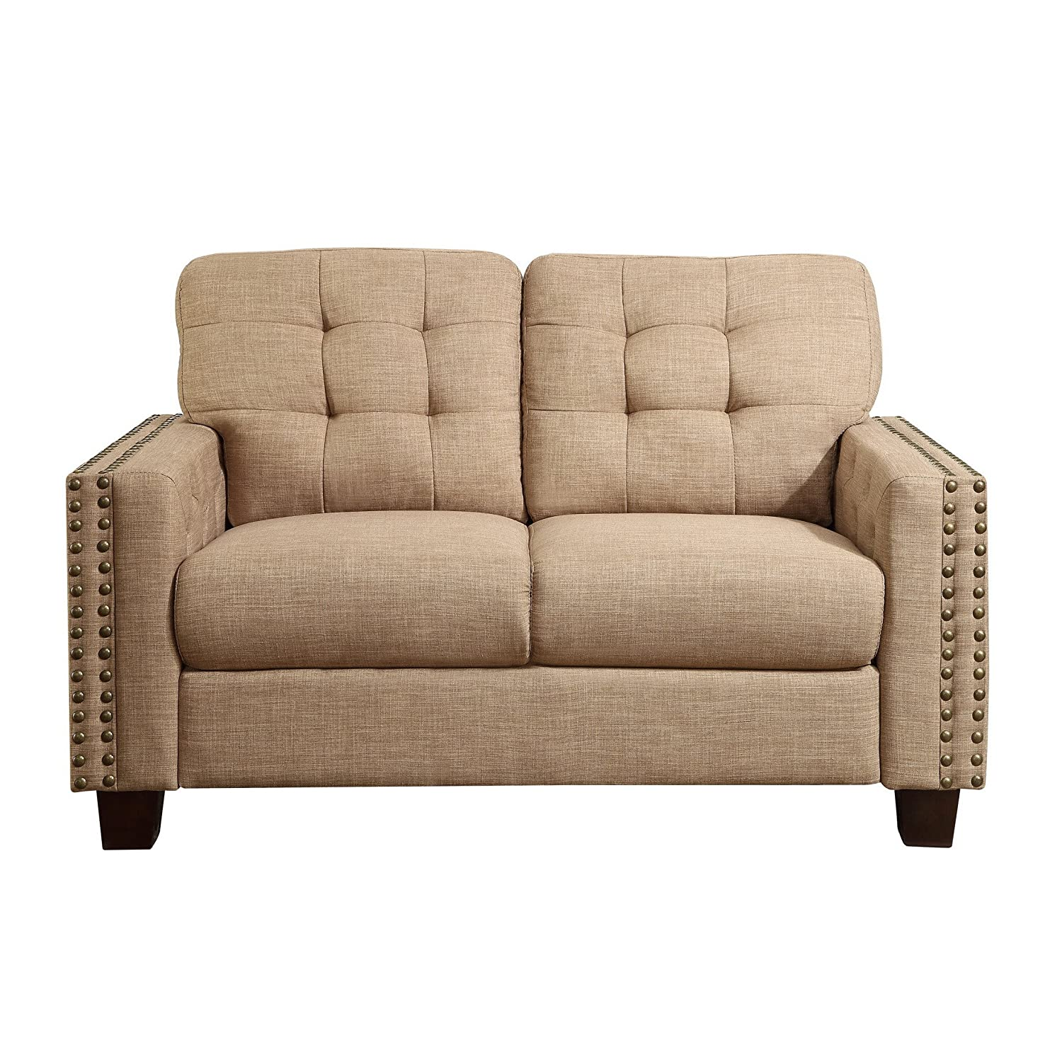 Amazon Rosevera Delicia Tufted Loveseat Wheat Home & Kitchen