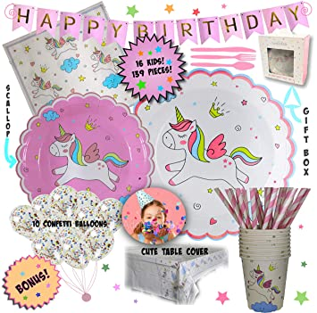 Amazon.com: Unicornio Party Pack | Decoraciones ...
