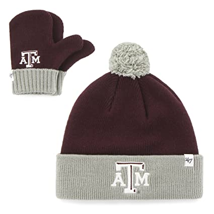 new arrival 3b4bf 4c8c2 Image Unavailable. Image not available for. Color   47 Infant NCAA Texas  A M Aggies Embroidered Pom Knit Hat ...