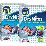 Huggies DryNites, 32 Mutandine assorbenti per la notte bambino 4-7 anni (17-30 kg), 2 confezioni da 16
