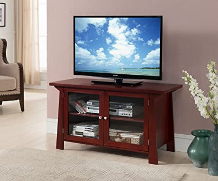 Amazon 42 Cherry Wood Entertainment Center Tv Console Stand