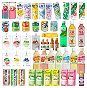 KOREAN Soft Drink Assorted Box Total 48 Count All you can eat [A to Z Collection] Lunch Box Drink