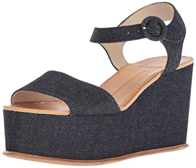 862795d6482c Dolce Vita Women s DATIAH Wedge Sandal Dark Blue Denim 6 ...
