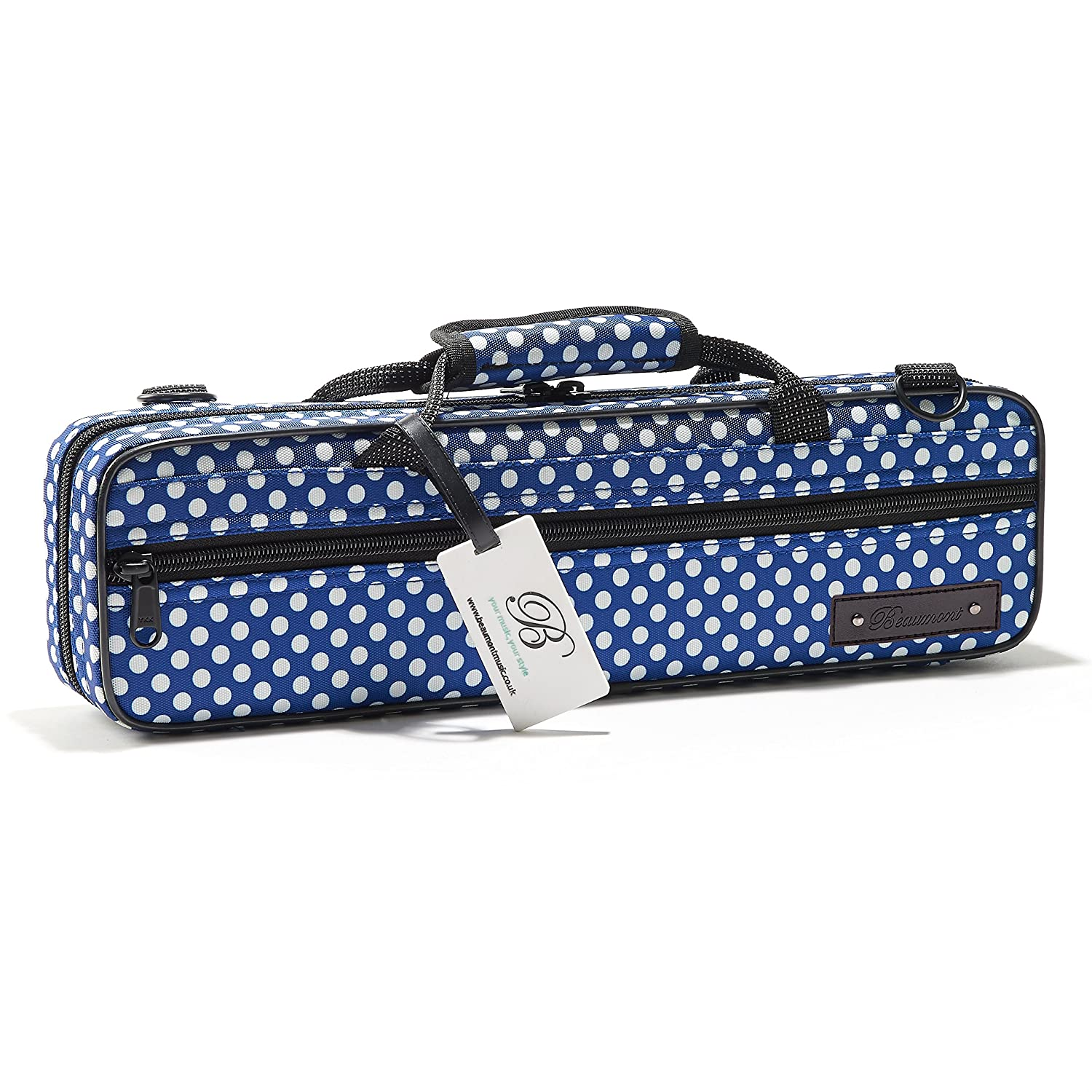 Beaumont BFCA-BP Blue Polka Dot Flute Box Case