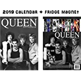 Queen Calendar 2019 + Queen Refrigerator Magnet