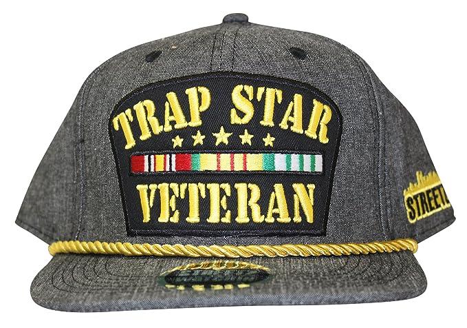 a3f73df4ea7 Streetz Iz Watchin Trapstar Veteran Snapback Cap  Amazon.co.uk  Clothing