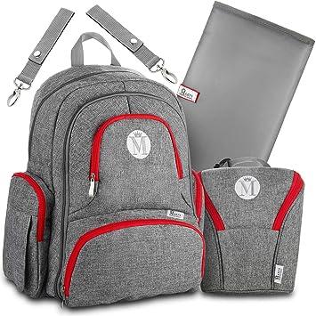46c5ff8c2d73a Baby Diaper Bag Backpack for Girls   Boys –Large Diaper Backpack Organizer  W Stroller Straps   Baby Wipes Pocket. Bonus Bottle Cooler Bag   Infant  Changing ...