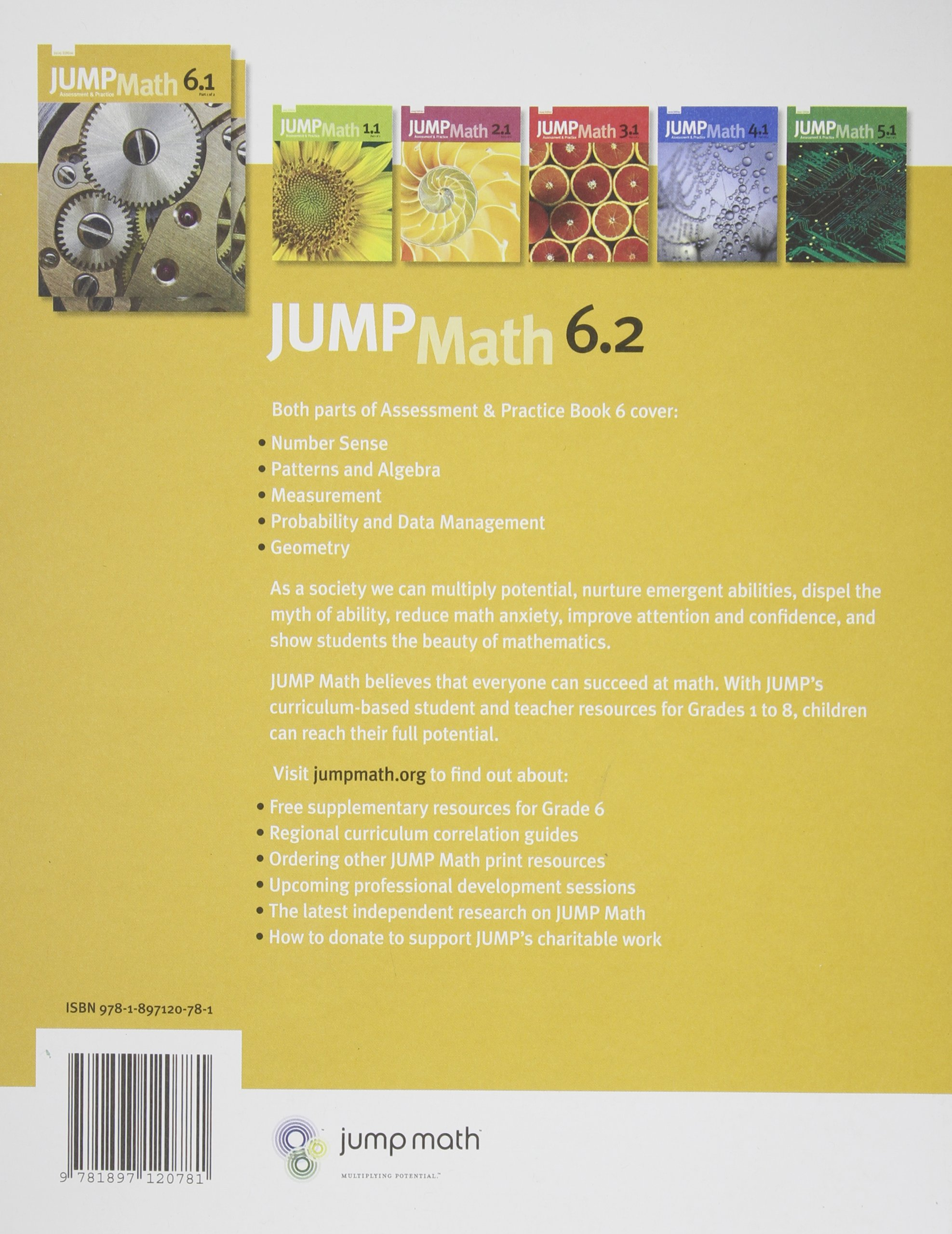 JUMP Math 62 Book 6 Part 2 of 2 Amazonca John Mighton JUMP – Jump Math Grade 6 Worksheets