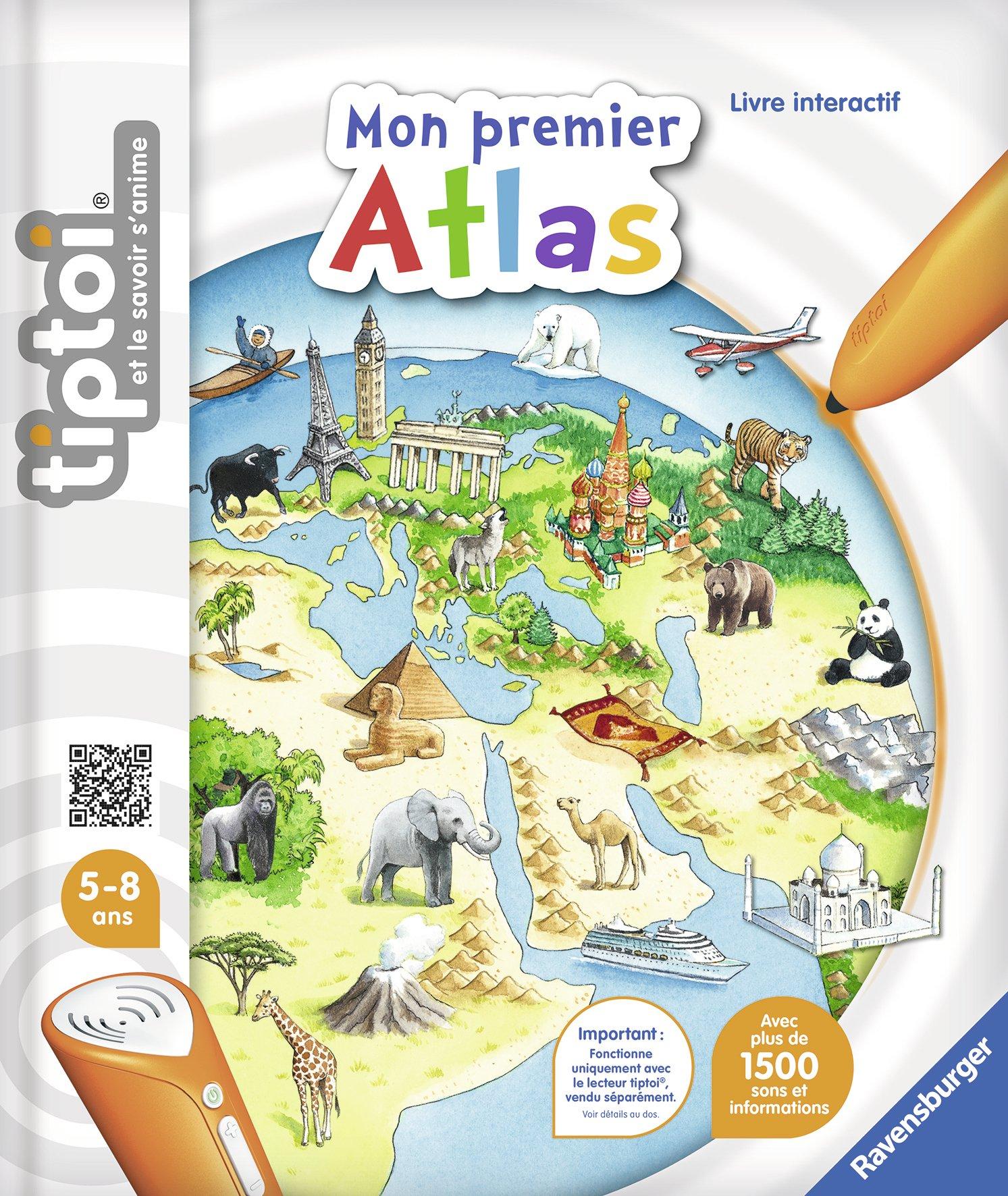 Ravensburger 00628 - Jeu Éducatif Électronique - Livre - Mon Premier Atlas Tiptoi product image