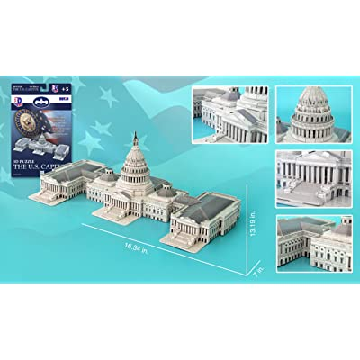 US Capitol Building 3D Puzzle, 132 Pieces: Toys & Games