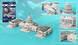 US Capitol Building 3D Puzzle, 132 Pieces