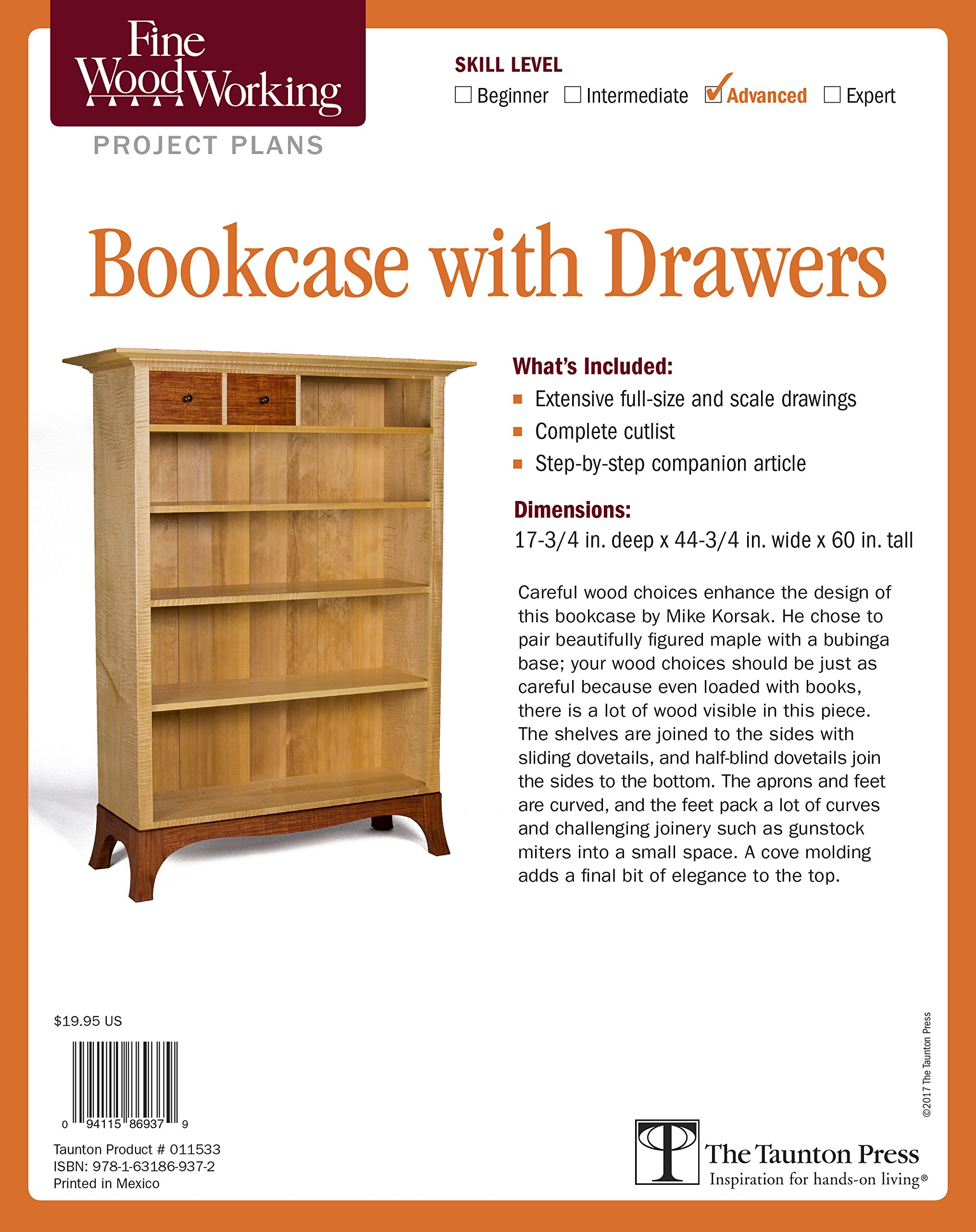 Fine Woodworking's Bookcase with Drawers Plan (Fine Woodworking's Project Plans) pdf epub