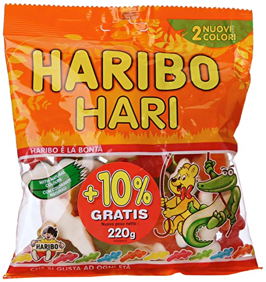 18 opinioni per Haribo Caramelle Hari Gr.200