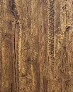 """Distressed Wood Wallpaper Rustic Wood Con-Paper Wood Grain Reclaimed Wood Wallpaper Stick and Peel Self Adhesive Wallpaper Removable Contact Paper Wood Look Wallpaper Roll Brown 78.7""""x17.7"""""""