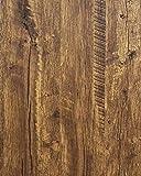 Distressed Wood Wallpaper Rustic Wood Con-Paper Wood Grain Reclaimed Wood Wallpaper Stick and Peel Self Adhesive…