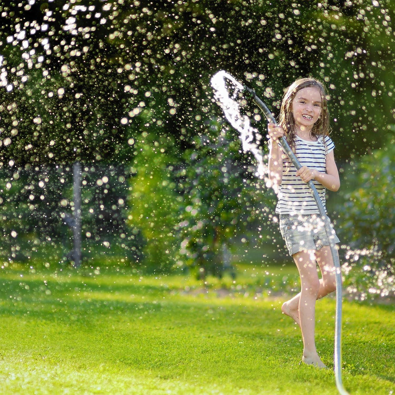 Y Wasseranschluss Wasserdurchfluss regulierbar f/ür Garten mit Absperrh/ähnen Relaxdays 2 Wege Verteiler schwarz-gr/ün