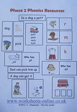 Phase 2 Phonics Teaching Resource for ages 4 - 6 years - pdf file to ...