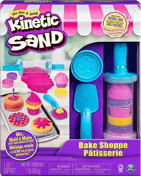 Rainbow Mix Set avec 3 couleurs de Cinétique Sable 382 G et 6 outils pour les enfants âgés de 3