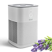 LEVOIT Air Purifier for Home Bedroom, Dual H13 HEPA Filter Remove 99.97% Dust Mold Pollen Pet Dander, Desktop Air Cleaners for Smoke and Odor with Aromatherapy, 100% Ozone Free, 24dB, LV-H128