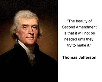Amazon Thomas Jefferson The Beauty Of Second Amendment Quote New 2nd Amendment Quotes