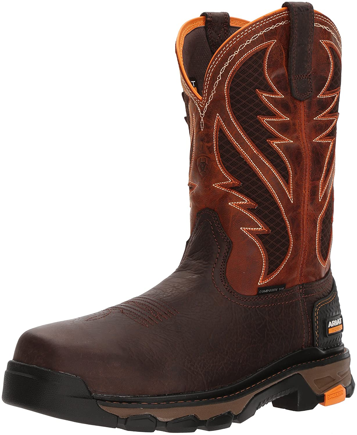 Ariat Work メンズ Intrepid VentTEK Composite Toe Bruin Brown/Sassy Orange 12 D(M) US 12 D(M) USBruin Brown/Sassy Orange B076MCYR9W
