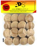 Wood knobs for Cabinet Doors, Dresser Furniture Drawers, 1 1/2 inch Small Wooden Knobs, Unfinished Craft, Folding bifold…