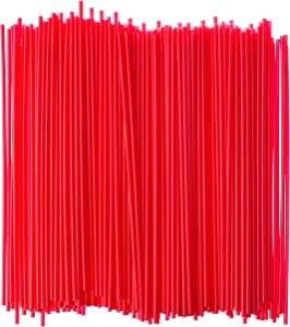 Crystalware Plastic Sip Stirrers 7 1/2 Inch 1000/box, Red