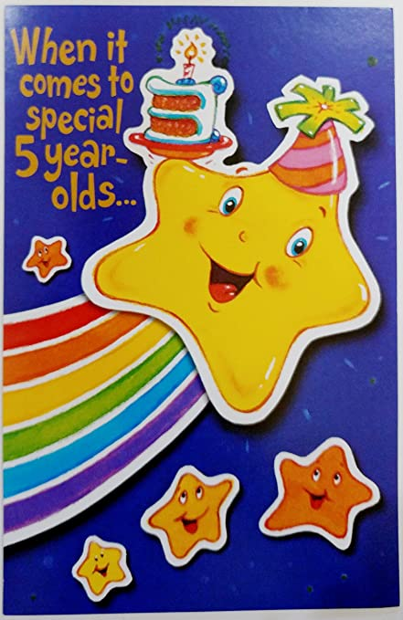 Amazon Special 5 Year Old Happy Birthday Greeting Card You