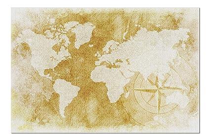 Amazon Com Rustic World Map Illustration A 91601 20x30 Premium